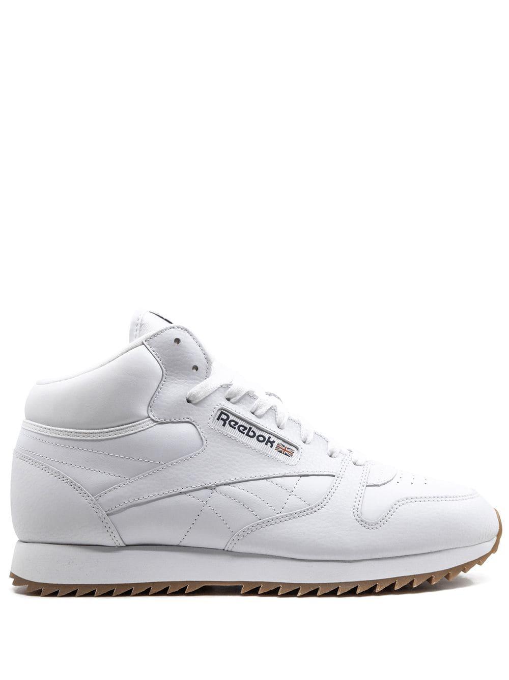laberinto pozo Desarmado  Reebok Cl Lthr Mid Ripple Gum Sneakers In White | ModeSens | Sneakers men  fashion, Sneakers white, Sneakers