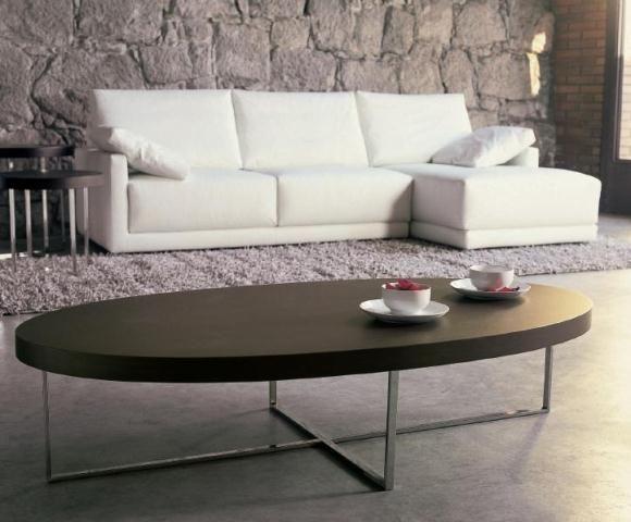 Mesa de centro ovalada mesas de centro pinterest for Mesa cristal ovalada