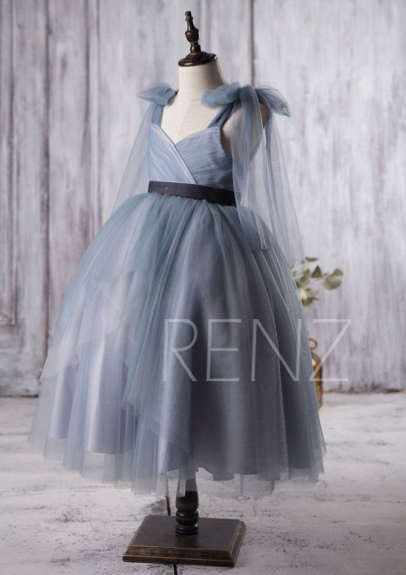 882376afe75 2016 Dusty Blue Junior Bridesmaid Dress Convertible by RenzRags. 2016 Dusty  Blue Junior Bridesmaid Dress Convertible by RenzRags Lace Flower Girl  Dresses ...