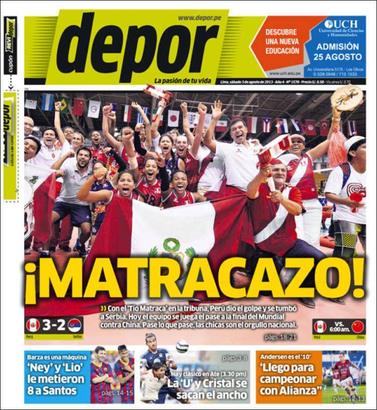 Prensa deportiva del 3 de Agosto 2013