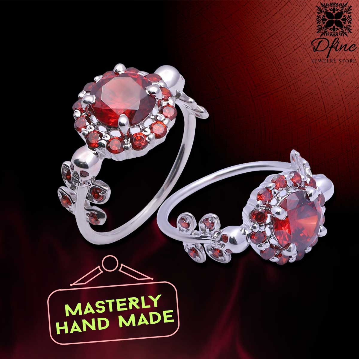 """""""Master Hand made jewelry for everlasting"""" Featuring Silver Petal Skull Ring 1.70cttw Red CZ Gothic Skull Engagement Ring. #jewelry #fashion #art #jewellery #beauty #style #wedding #beautiful #engagement #love #gothic #rings #luxury #handmadejewelry #handmade #handcrafted #handmadewithlove #skulls #designerjewelry #designart #dfinejewelrystore"""