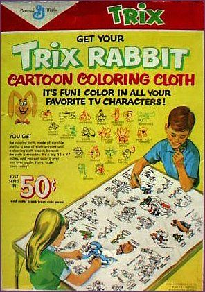 #cereal #retro #trix #rabbit cartoon coloring cloth it´s fun! color in all your favorite tv #characters