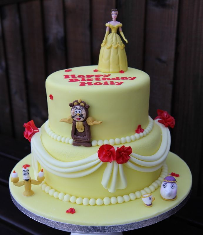 Beauty and the beast birthday cake Personalised Cakes for