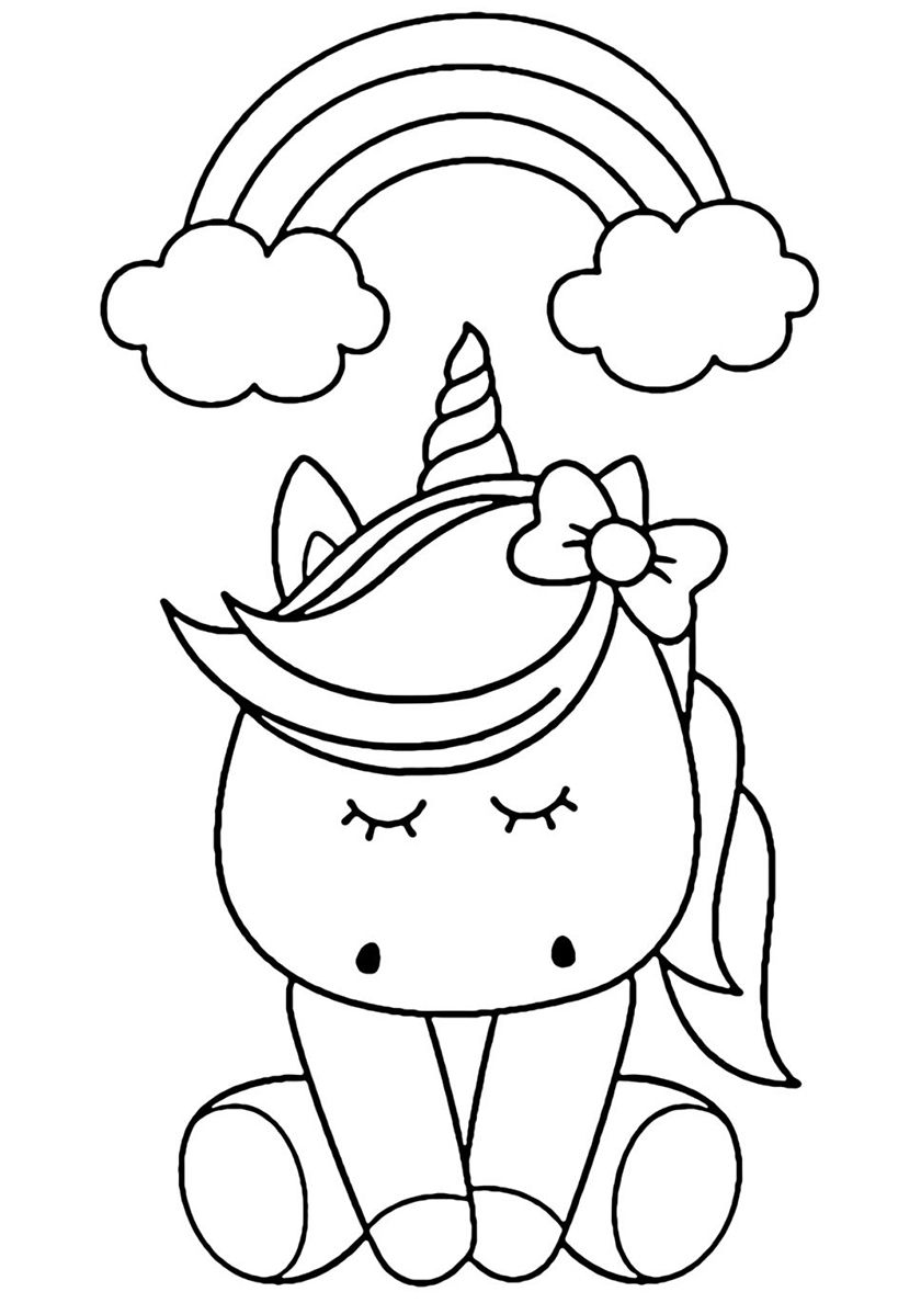 Rainbow Dream | Unicorn coloring pages, Birthday coloring ...
