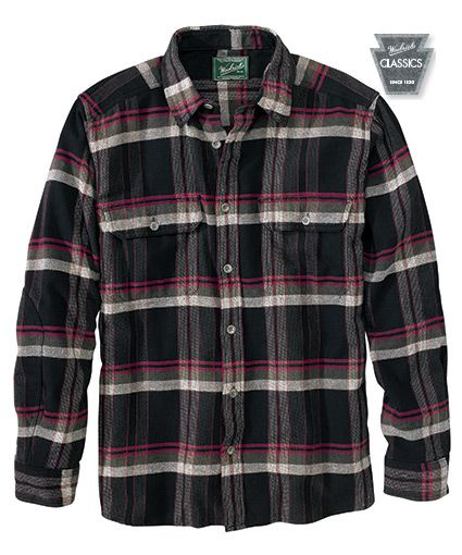 bc3e0d3e2 Men's Oxbow Bend Plaid Flannel Shirt in Black Plaid by WOOLRICH® The  Original Outdoor Clothing Company