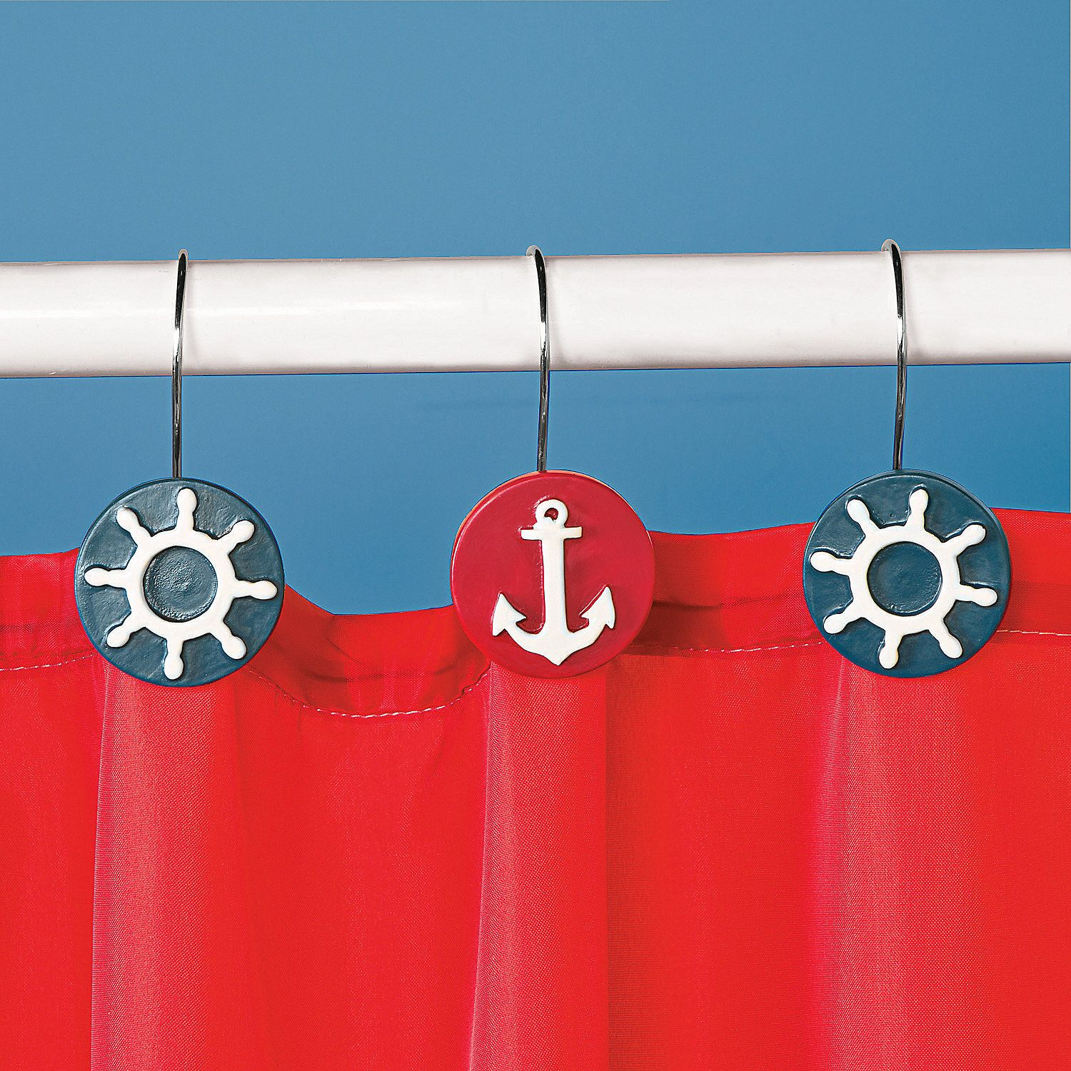 Nautical Shower Curtain Hooks Orientaltrading Com Nautical
