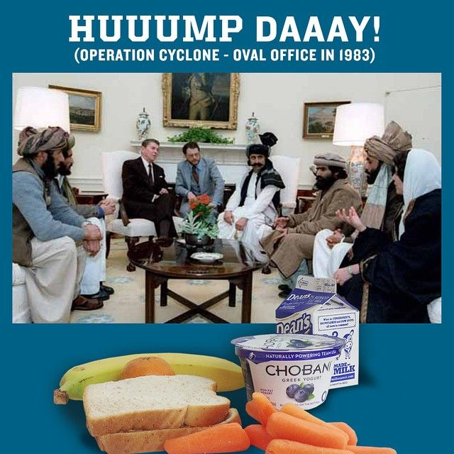 A little Hump Day History Lesson: Jimmy became Ronnie. Ronnie became George. George became Billy. Billy became George (again). And George (again) became Barry. Meanwhile Mujahideen became Talliban. Talliban became al-Qaeda. al-Qaeda became ISIS. Isis Became ISIL, er, IS I guess. Meanwhile the Saudis bankers became the Saudis bankers. At least one this in this whole humpfest is consistent…
