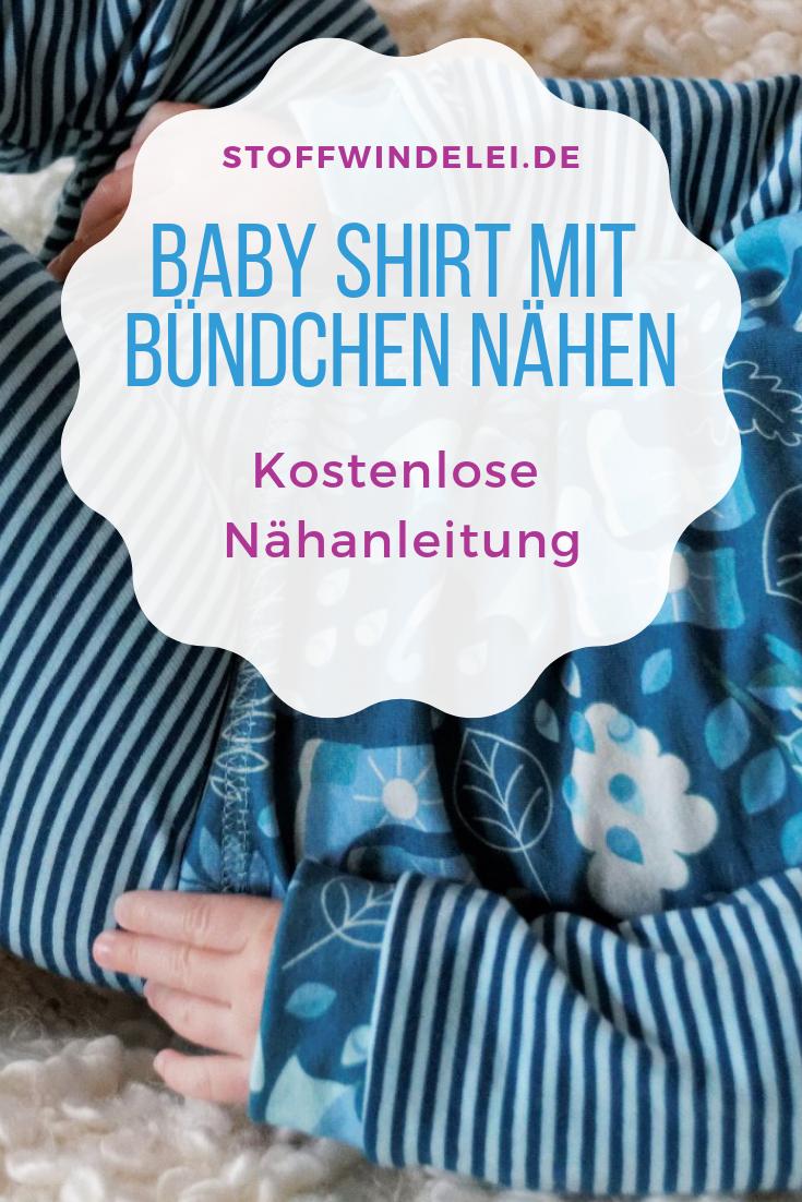 Photo of Babyshirt mit Bündchen nähen   Stoffwindelei.de