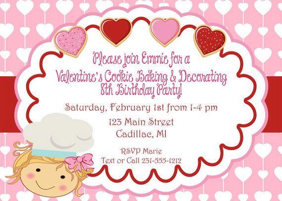 ValentineS Birthday Invitation Valentines By Fabpartyprints