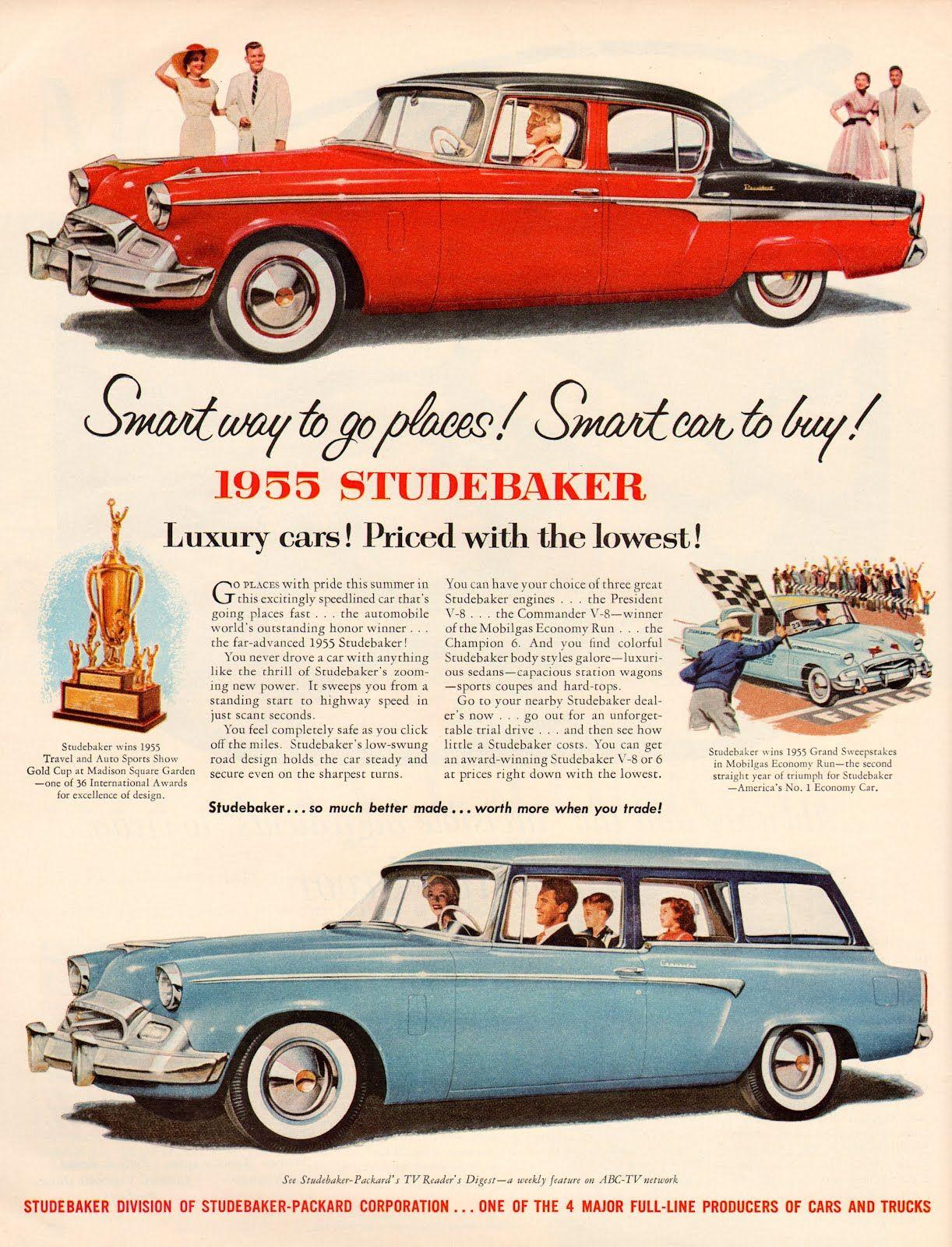 studebaker_1955.JPG (1222×1600) | vintage car ads | Pinterest | Ads ...