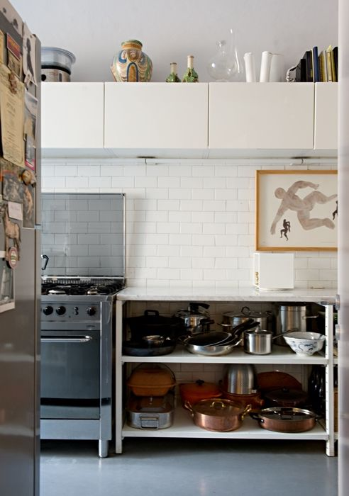 switching it up in the kitchen: open base shelving ...