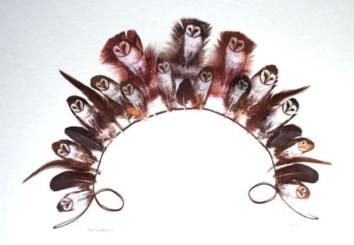 Hand-painted Feathers by Rebecca Jewell