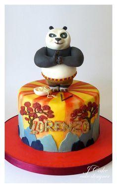 Kung Fu Panda Cake With Images Panda Cakes Kung Fu Panda Cake