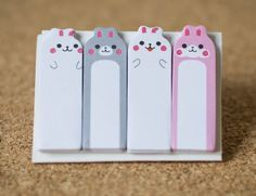 Sticky notes rabit bear planner supplies