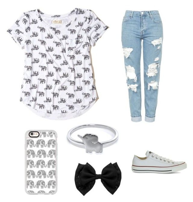 """""""Elephant🐘"""" by egloomis on Polyvore featuring Hollister Co., Casetify, Eternally Haute, Topshop and Converse"""
