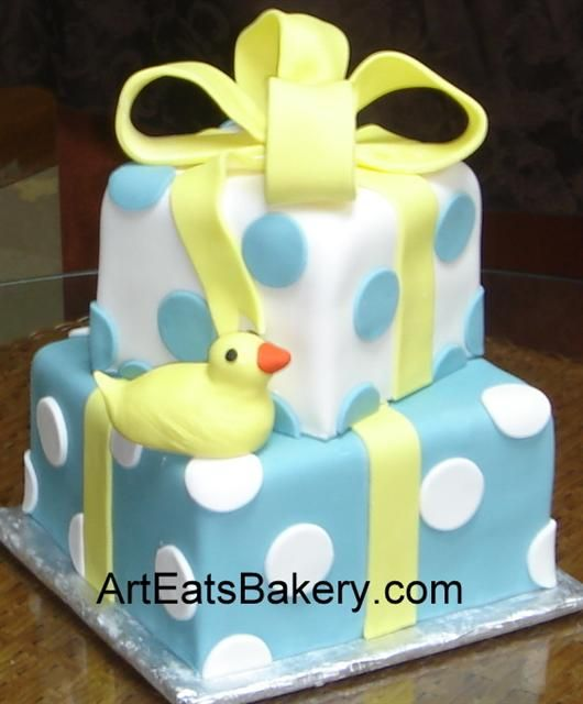 custom creative Baby Shower fondant cake designs and pictures