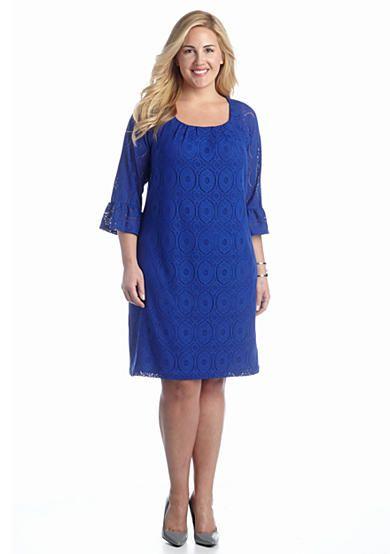 Chris Mclaughlin Plus Size Allover Lace Shift Dress Belk