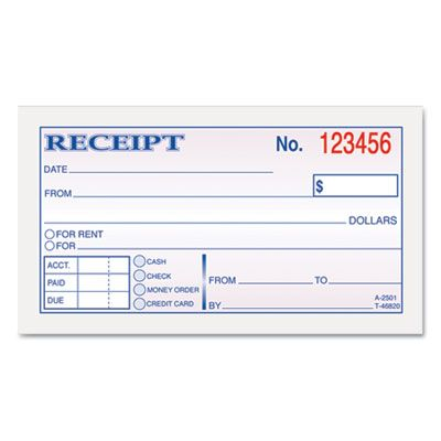 Rental Receipt Print Outs Money \ Rent Receipt Books, 2-3\/4 x 5 - how to write a receipt for rent