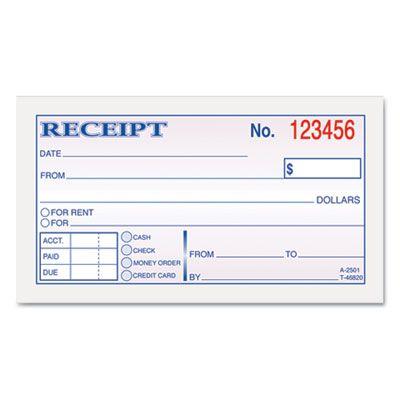 Rental Receipt Print Outs | Money & Rent Receipt Books, 2-3/4 x 5 ...