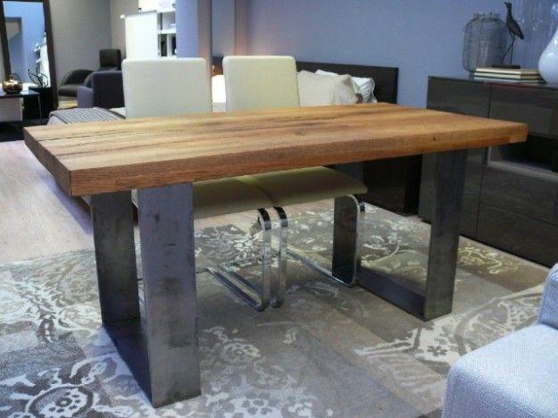 tavoli in legno grezzo - tavolo in legno grezzo con sedie moderne ... - Sedie E Tavoli Design Moderno