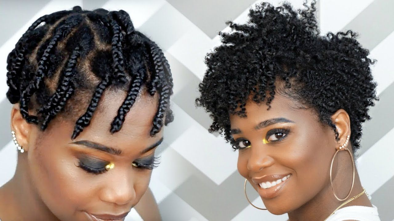 How To Do A Braid Out On Tapered Natural Hair Video Black Hair Information Tapered Natural Hair Braid Out Natural Hair Natural Hair Twists