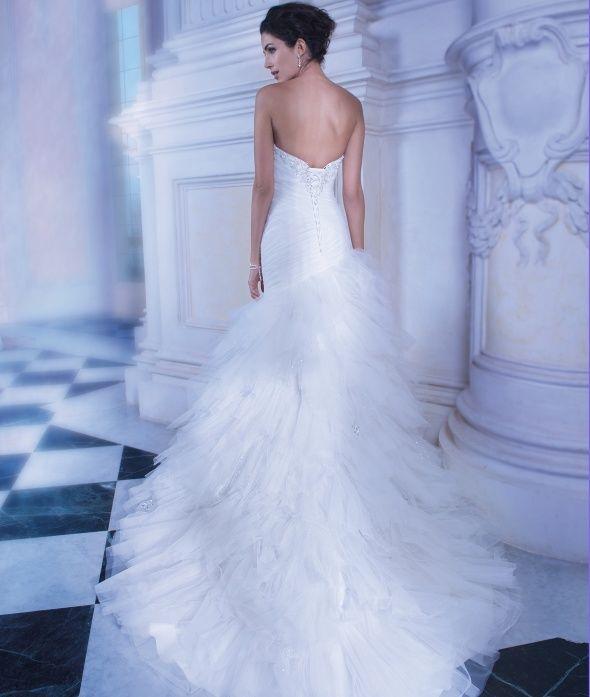 Dimitri Wedding Gowns: Demetrios Wedding Gown Style 553 (back), Ilissa Collection