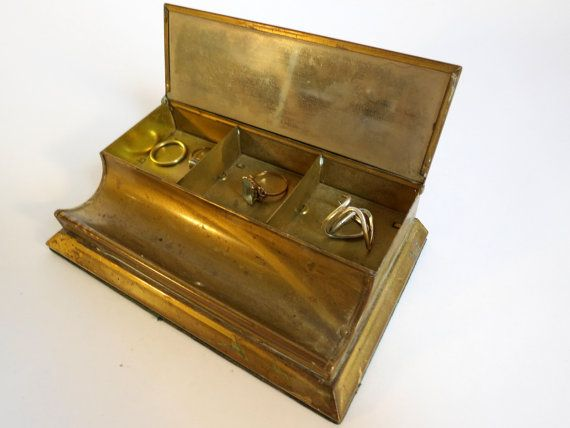 Antique Brass Jewelry Box Antiques Brass jewelry and Jewelry