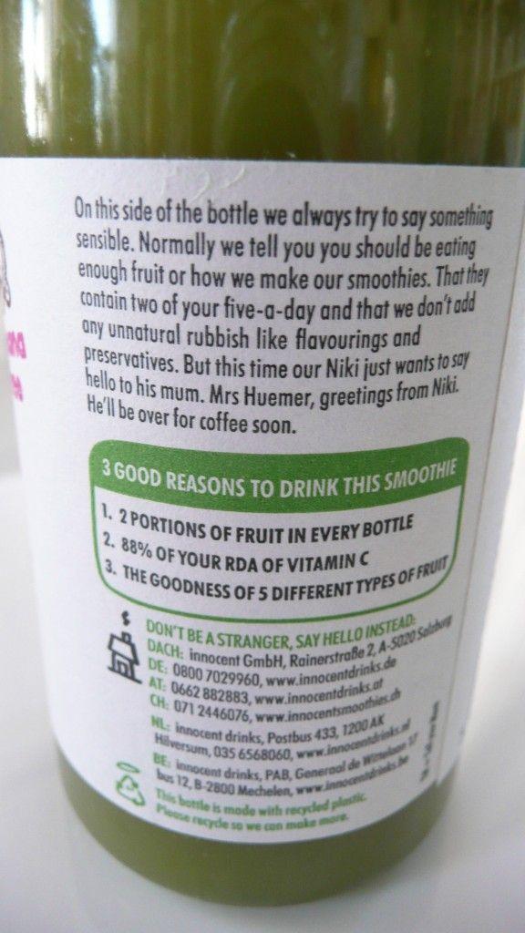 Innocent Smoothies Etiketten