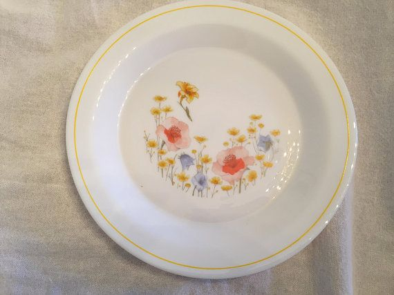 Arcoroc / Arcopal Dinner Plate & Arcoroc / Arcopal Dinner Plate | Vintage dishes