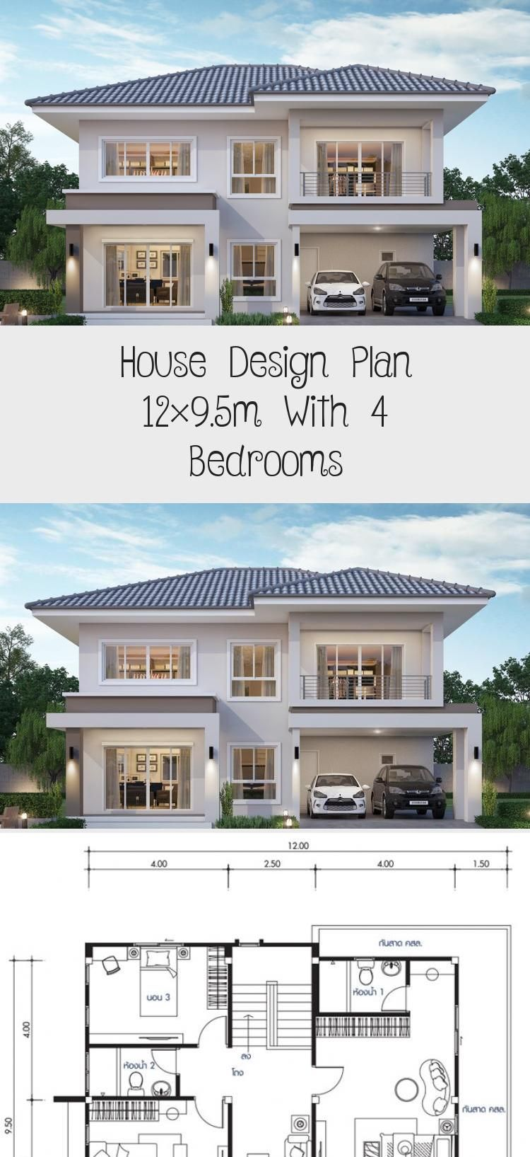 House Design Plan 12x9 5m With 4 Bedrooms Home Design With Plansearch Houseplansplanosdecasas Simpl In 2020 Home Design Plans Unique House Plans Rustic House Plans