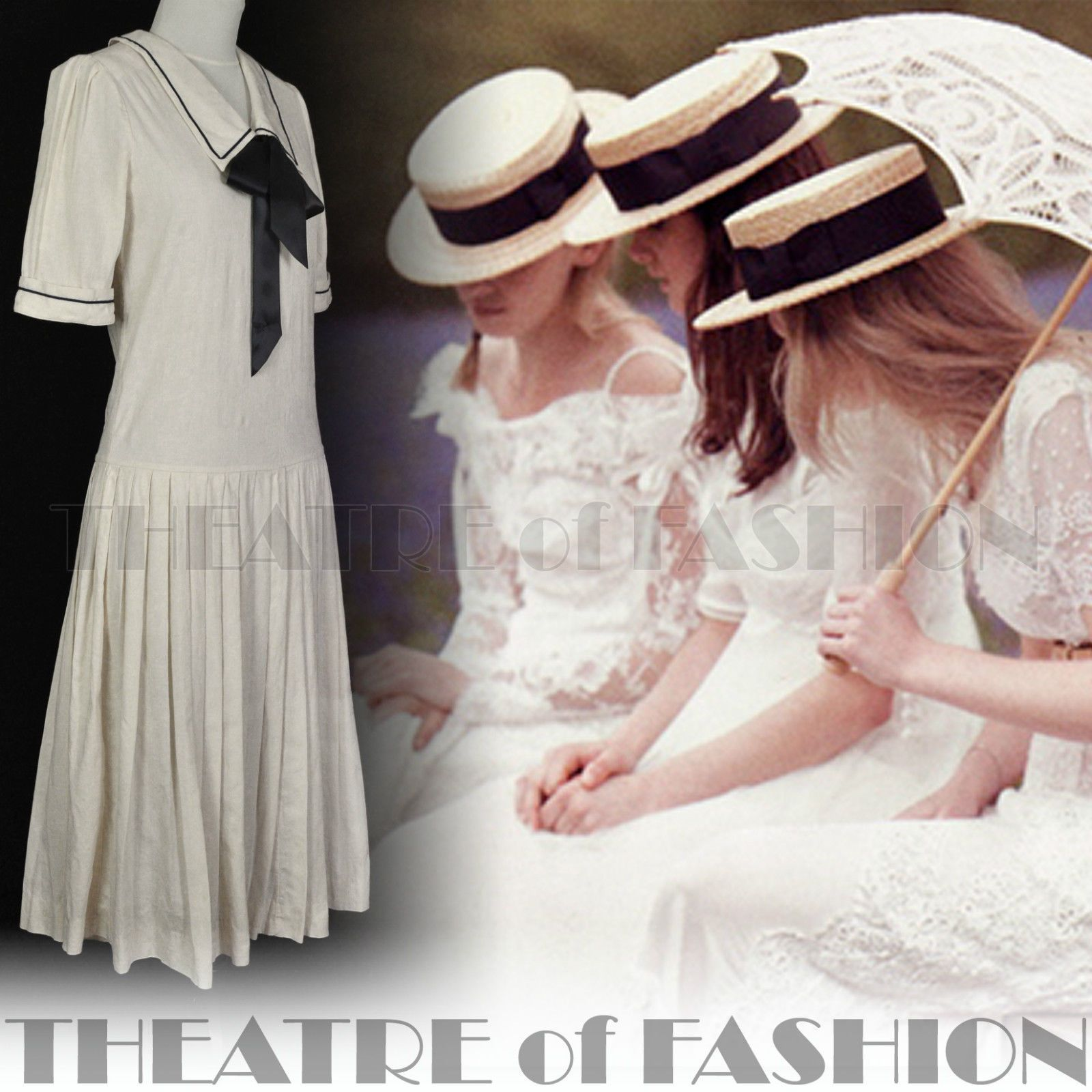 VINTAGE LAURA ASHLEY SAILOR DRESS; My Daughter Bought That