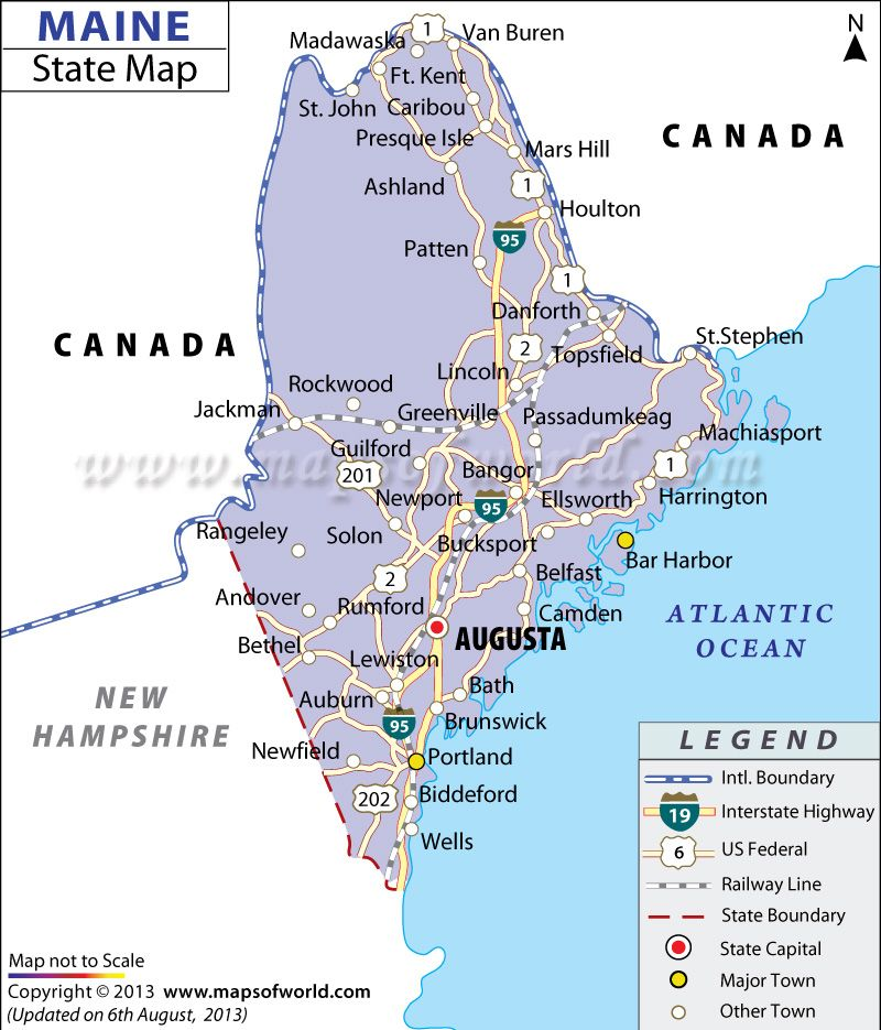 Map Of Maine Maine Pinterest City - Maine cities map
