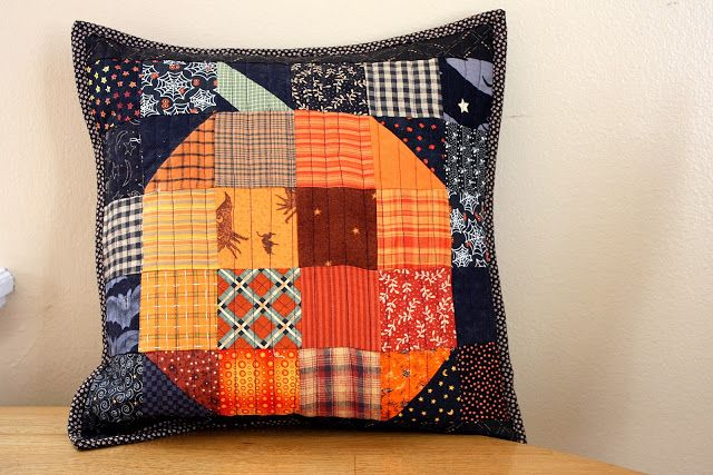 Diary of a Quilter - a quilt blog: Patchwork Pumpkin quilt block and table runner tutorial http://www.diaryofaquilter.com/2014/09/patchwork-pumpkin-quilt-block-and-table.html