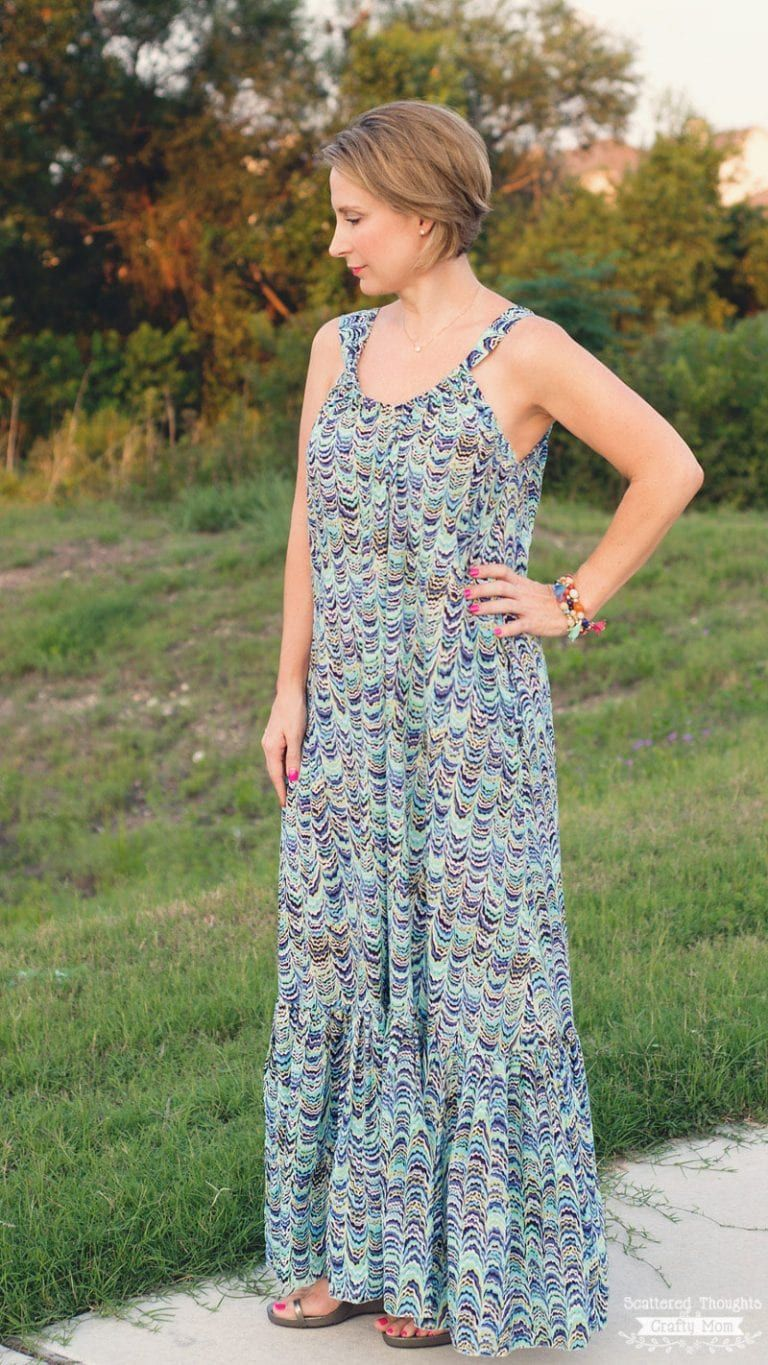 2b63eaed0ad5 Easy Breezy Summer Lounge Dress (how to sew a maxi dress - free sewing  pattern for women)