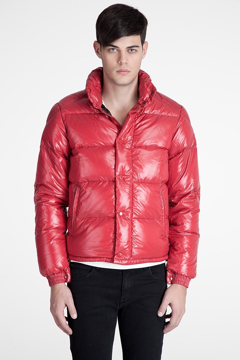 Moncler Men's Jackets Everest Down in Red moncler coats
