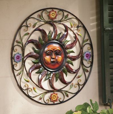 Metal Sun Wall Art, Large Outdoor Sun Wall Art