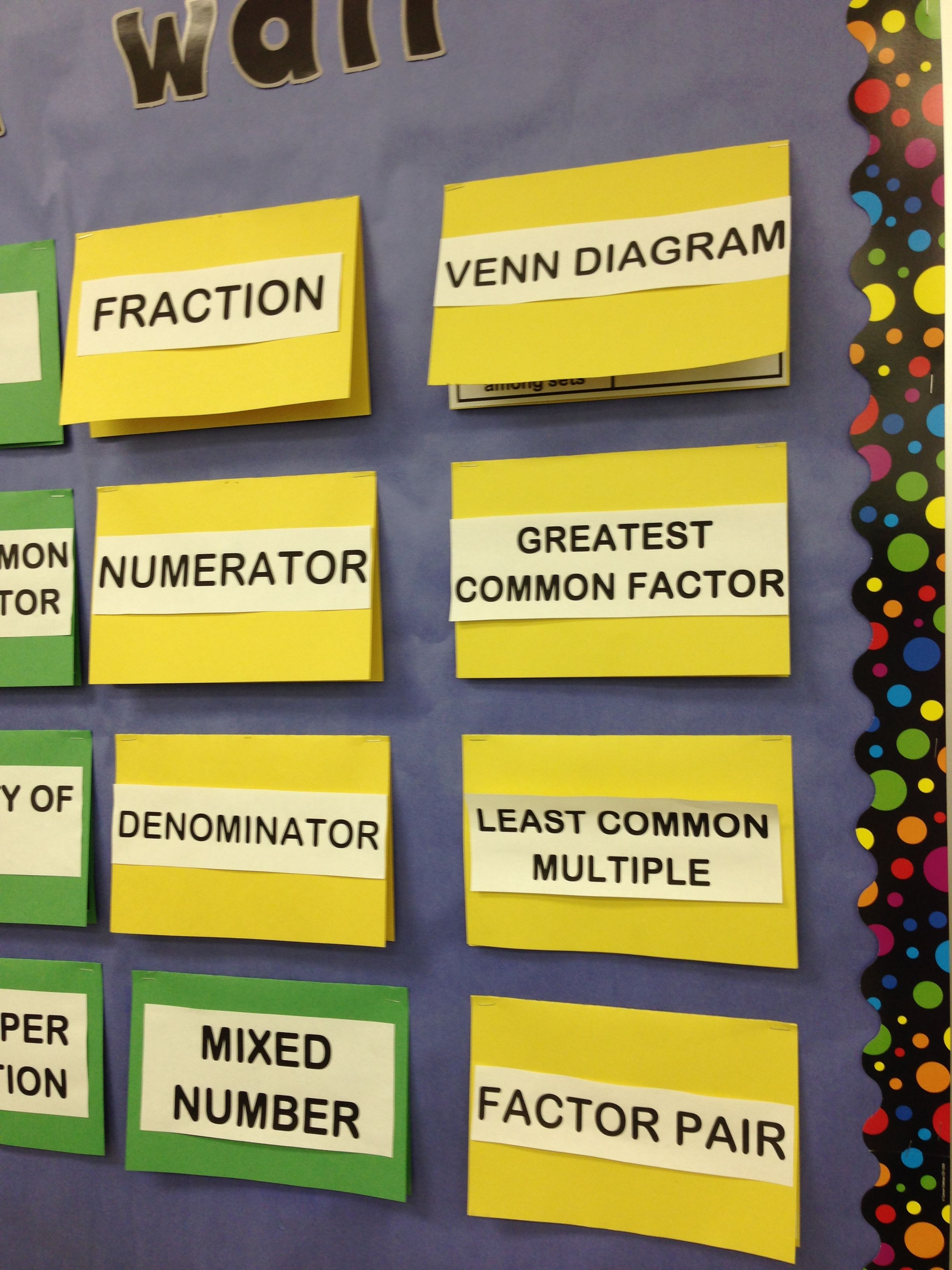 IMG_1362 | Education | Pinterest | Math, Vocabulary wall and ...