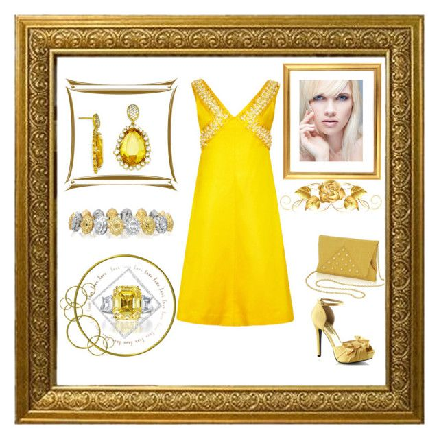 """""""Yellow and gold Make a Bold Style"""" by mcronald-denise ❤ liked on Polyvore featuring Kevin Jewelers, Robert Pelliccia, Fabulicious and Inge Christopher"""