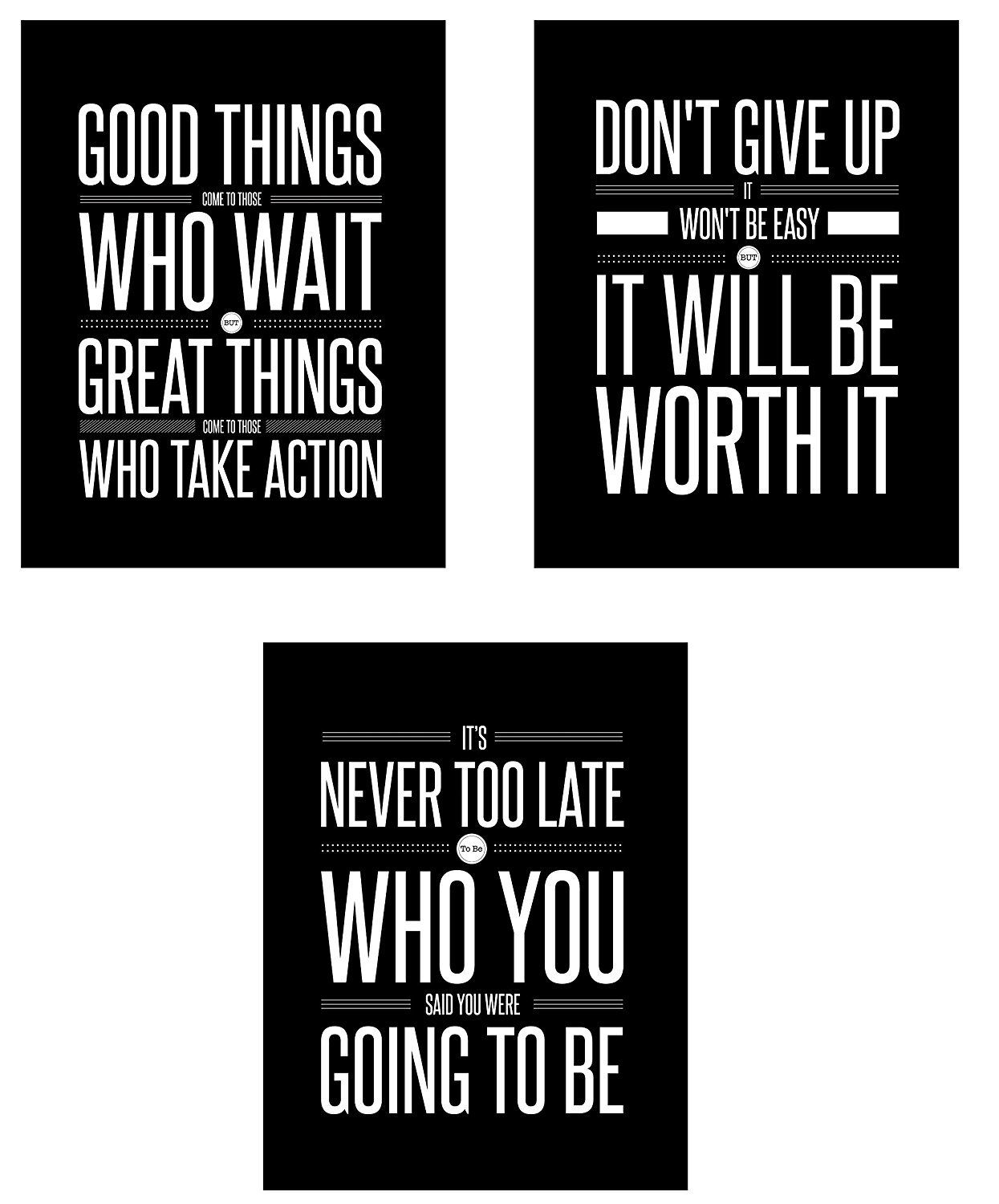 Motivational inspirational quote positive life poster picture print wall art 333