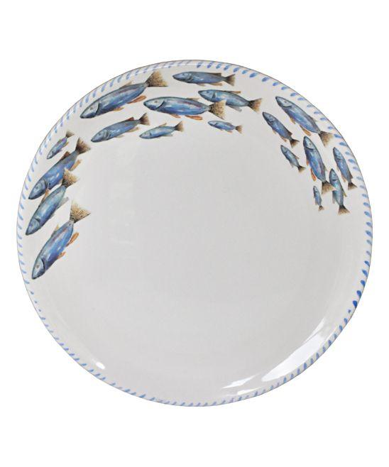 School of Fish Round Platter