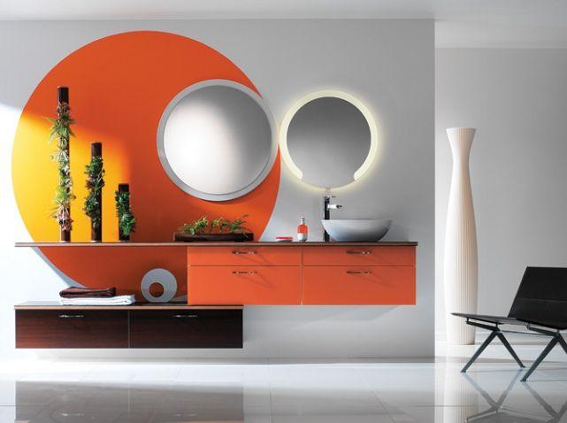 Salle de bains orange perene C 『Decoration』 Pinterest