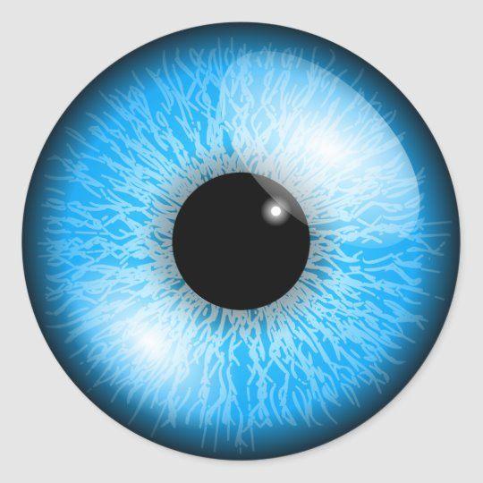 Blue Eye Stickers Zazzle Com In 2020 Black Background Images Light Background Images Eye Stickers