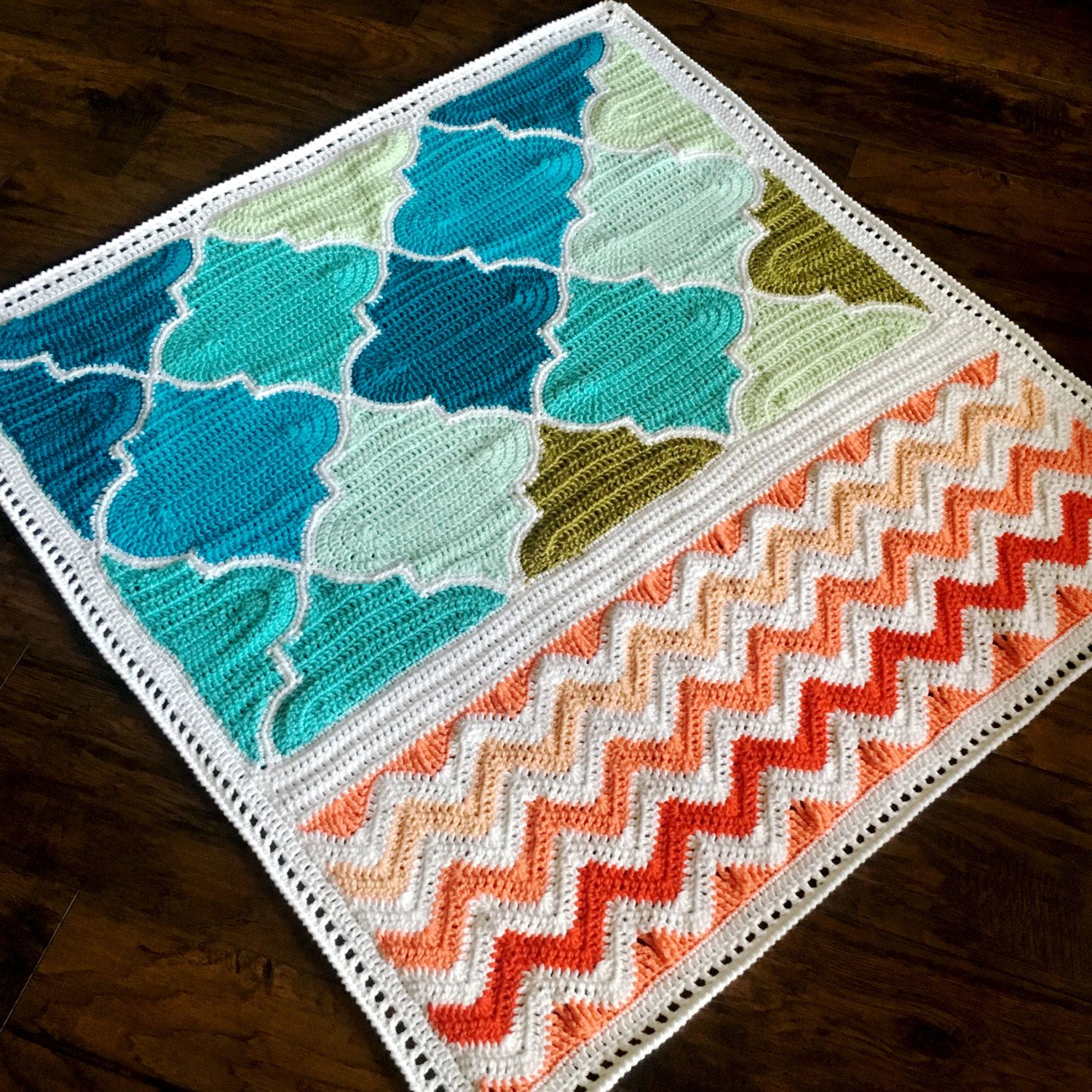 Pattern BabyLove Brand Trellis and Chevron Blanket Crochet | crochet ...