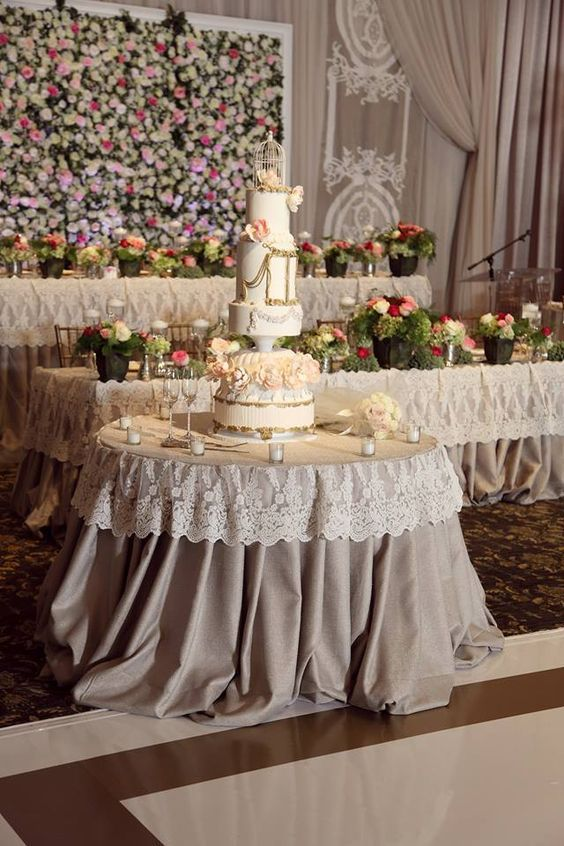 lace wedding decorations burlap lace amp dessert buffet 5375