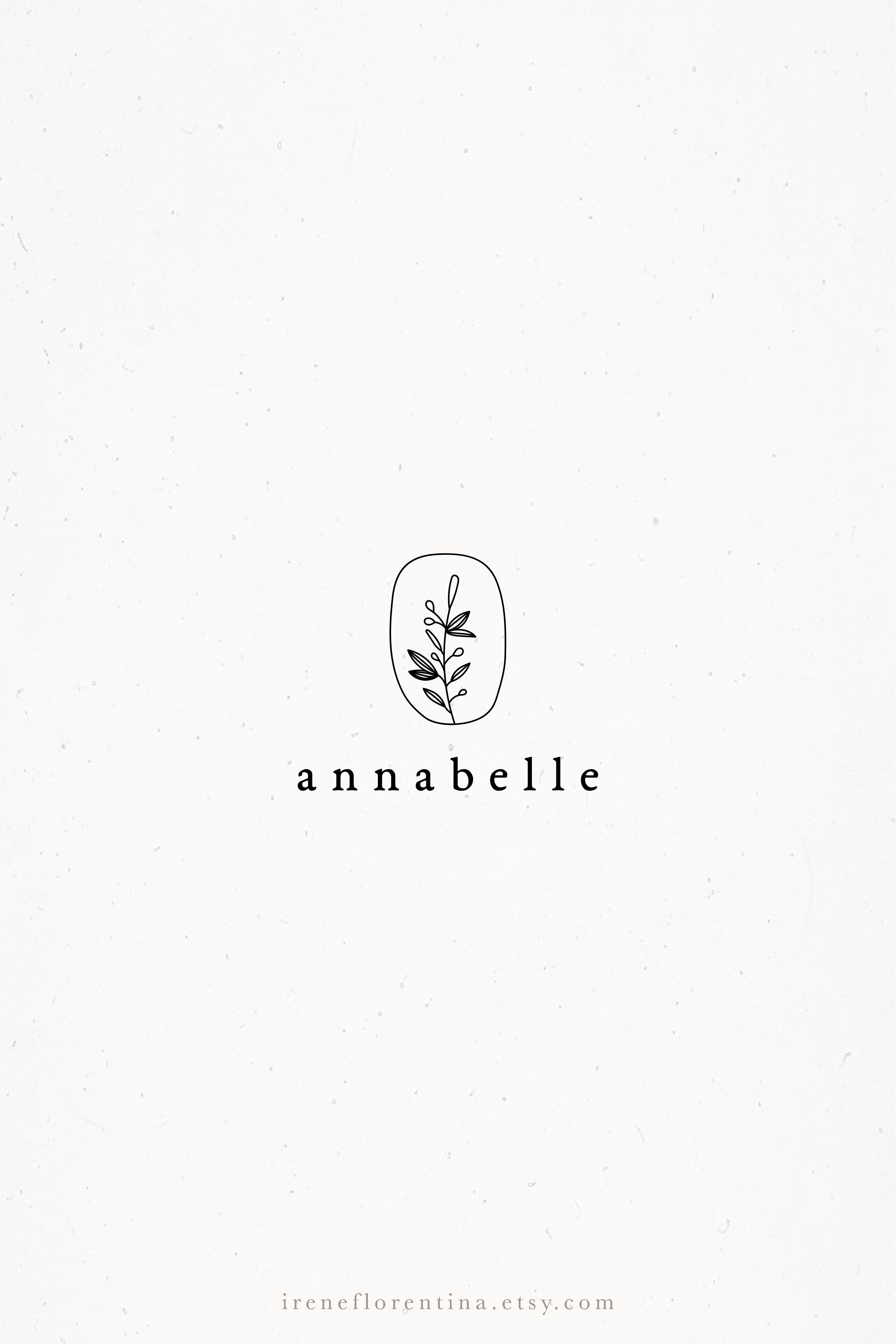 Olive Branch Simple Premade Photography Logo Classic Modern