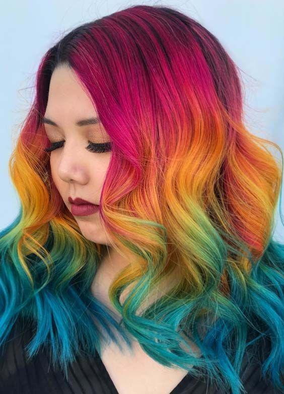 38 Awesome Rainbow Hair Color Ideas For 208 Hair Color Ideas