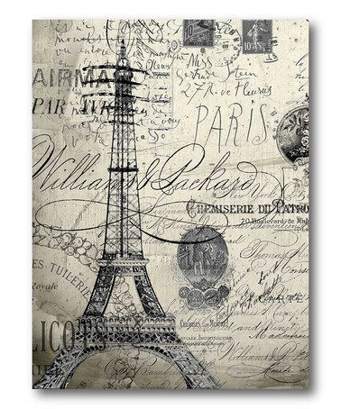 Take a look at this Black & White Vintage Paris Wall Art by ...