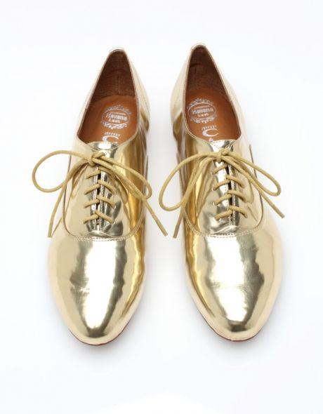 metallic oxford jeffrey campbell | Gold Schoenen