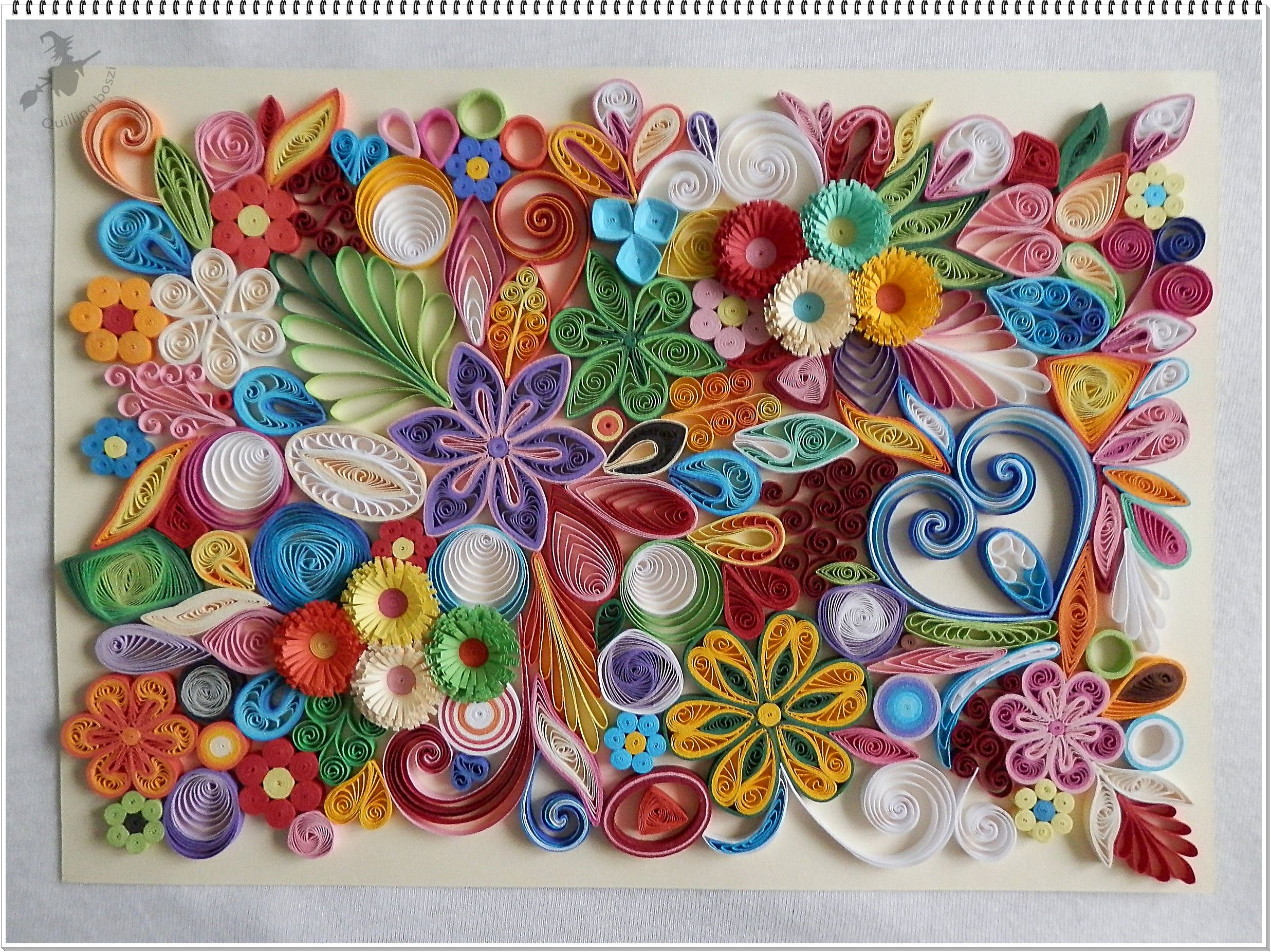 Quilling fantÁzia a falikép wall pictures a quilling wall