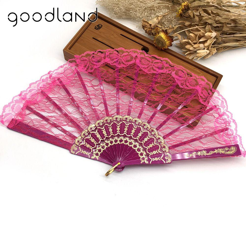 Free Shipping 10pcs/lot Spanish Style Plastic Lace Folding Hand Held ...